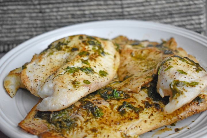 Pan – Seared Cilantro & Lime Tilapia