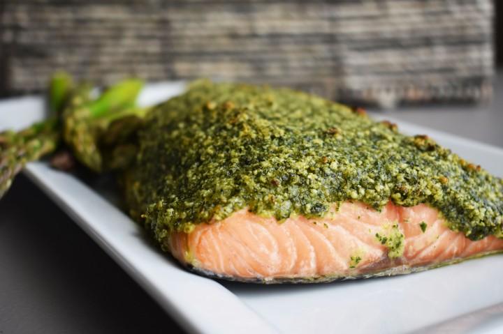 Cashew-Kale Salmon