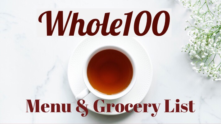 Whole100: Week 5 Menu and Grocery List