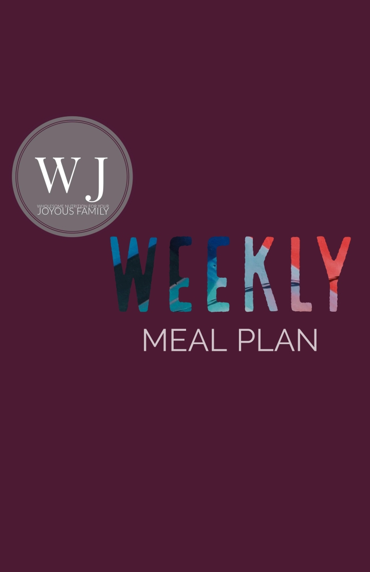 WJ's Weekly Dinner Plan + Grocery List