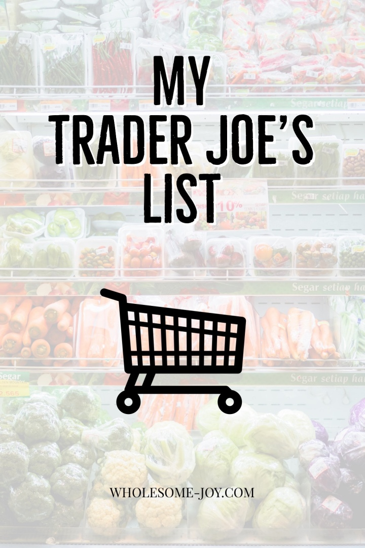 "Trader Joe's List containing all the basic ""must haves"" 